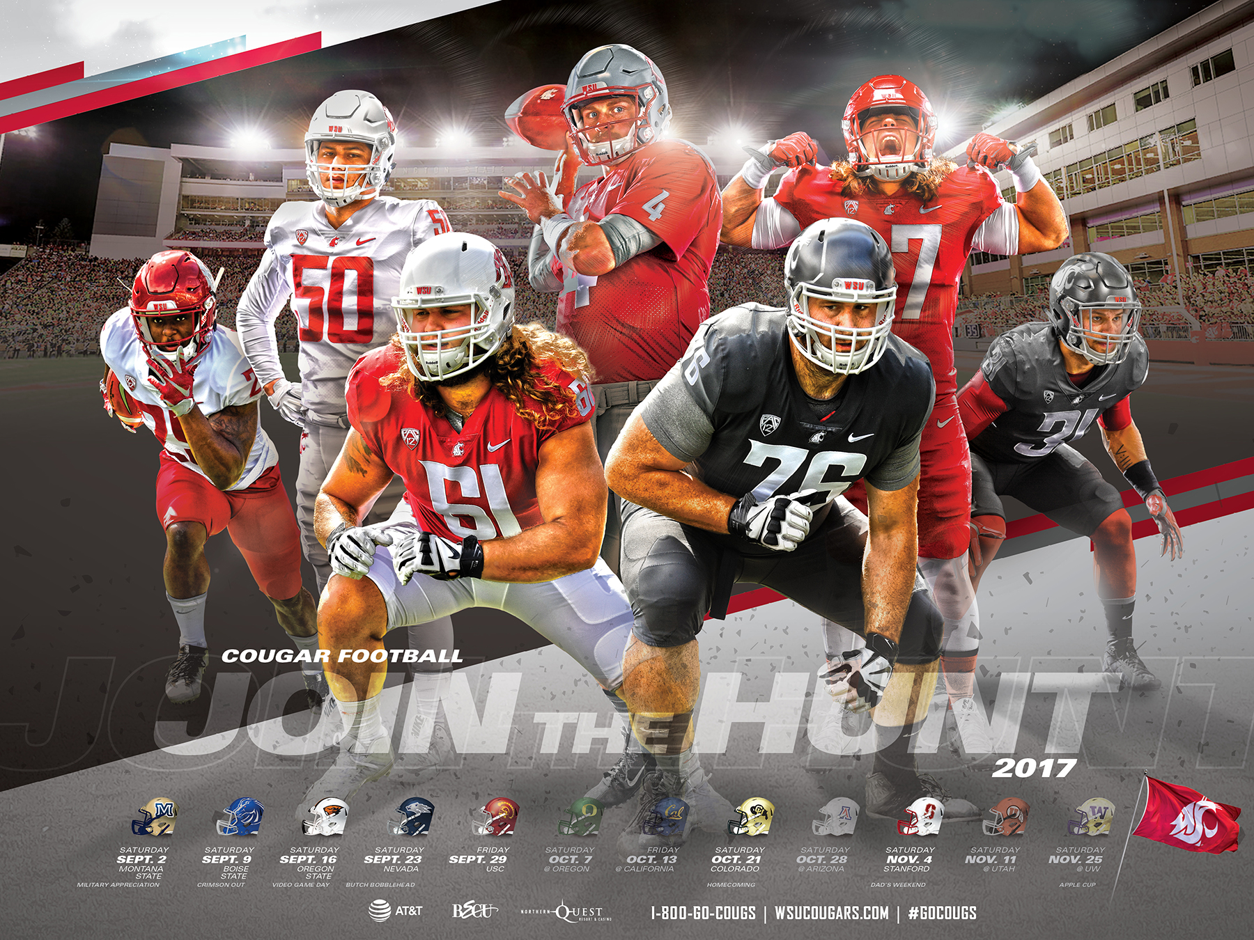 Wsu Football Schedule 2019 2017 18 Posters & Downloads   Washington State University Athletics