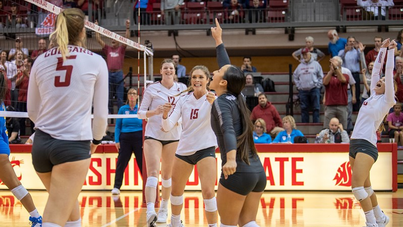 Volleyball Knocks Off No  20 UCLA to Remain Perfect at Home