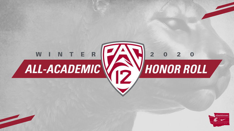 Fourteen Cougars Named to Pac-12 Winter Academic Honor Roll - Washington State University Athletics